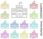 school icon in multi color.... | Shutterstock .eps vector #1202606071