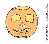 happy halloween color vector... | Shutterstock .eps vector #1202622727