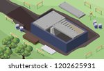 construction phase. hollow core ... | Shutterstock .eps vector #1202625931