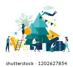 vector illustration small... | Shutterstock .eps vector #1202627854
