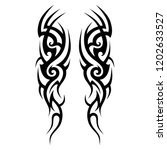 tattoo sleeve tribal  vector... | Shutterstock .eps vector #1202633527