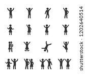 vector image set of dancing...   Shutterstock .eps vector #1202640514