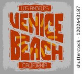 venice beach los angeles... | Shutterstock .eps vector #1202643187