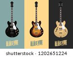 electric acoustic guitar   3...   Shutterstock .eps vector #1202651224