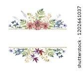 watercolor herbarium frame with ... | Shutterstock . vector #1202661037