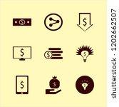 wealth icon. wealth vector... | Shutterstock .eps vector #1202662507