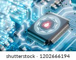 software security concept.... | Shutterstock . vector #1202666194