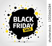 black friday sale inscription... | Shutterstock .eps vector #1202666284
