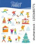 vector christmas winter card... | Shutterstock .eps vector #1202680771