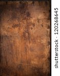 Old Wooden Panel With The...