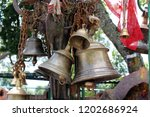 Small photo of The bells and stuff at Kali Hindu Temple on top of the hill in Dhulikhel