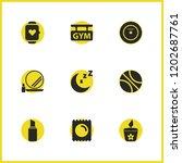 activity icons set with vinyl...