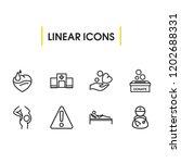 aid family icons set with...