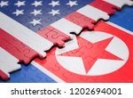 3d illustration. two nations... | Shutterstock . vector #1202694001