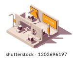 vector isometric low poly... | Shutterstock .eps vector #1202696197