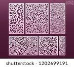 laser and die cut ornamental... | Shutterstock .eps vector #1202699191