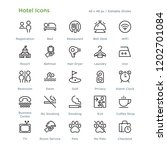 hotel icons   outline styled... | Shutterstock .eps vector #1202701084