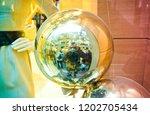 celebration ball christmas | Shutterstock . vector #1202705434