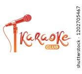 karaoke club inscription ...   Shutterstock .eps vector #1202705467