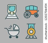 carriage icon set. vector set... | Shutterstock .eps vector #1202706454
