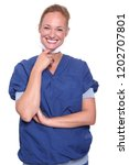commercial health care woman   Shutterstock . vector #1202707801