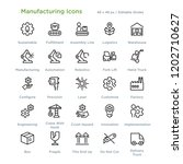 manufacturing icons   outline... | Shutterstock .eps vector #1202710627