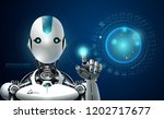 robot artificial intelligence... | Shutterstock .eps vector #1202717677