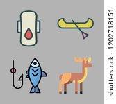 outdoor icon set. vector set... | Shutterstock .eps vector #1202718151