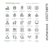 technology icons   outline... | Shutterstock .eps vector #1202718874