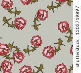 seamless floral pattern with... | Shutterstock .eps vector #1202719897