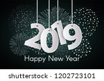 happy new year 2019 concept... | Shutterstock .eps vector #1202723101