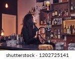 hot brunette girl in seductive...   Shutterstock . vector #1202725141