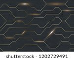 seamless vector futuristic dark ... | Shutterstock .eps vector #1202729491