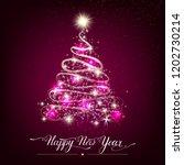 happy new year stylized shining ... | Shutterstock .eps vector #1202730214