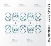 user icons line style set with...