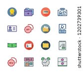 id icon set. vector set about... | Shutterstock .eps vector #1202739301