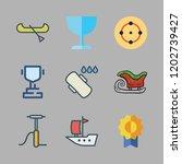 sport icon set. vector set... | Shutterstock .eps vector #1202739427