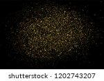 gold glitter texture isolated... | Shutterstock . vector #1202743207
