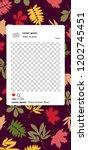 trendy editable template for... | Shutterstock .eps vector #1202745451