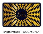 gift card with abstract... | Shutterstock .eps vector #1202750764