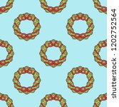 seamless pattern with christmas ... | Shutterstock .eps vector #1202752564