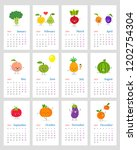 funny monthly calendar 2019...   Shutterstock .eps vector #1202754304