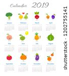 cute calendar 2019 year with...   Shutterstock .eps vector #1202755141