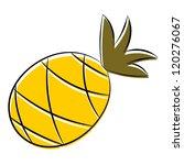 cartoon pineapple. eps10 | Shutterstock .eps vector #120276067