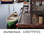 colorful row boats tethered to...   Shutterstock . vector #1202775721