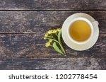 linden flowers herbal  cup of... | Shutterstock . vector #1202778454
