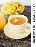 linden flowers herbal  cup of... | Shutterstock . vector #1202778457