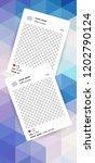 trendy editable template for... | Shutterstock .eps vector #1202790124