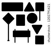 blank traffic road sign set ... | Shutterstock .eps vector #1202791621