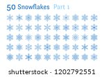 blue snowflakes collection...